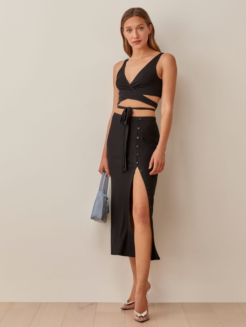 Reformation Jonny Two Piece in Black $178