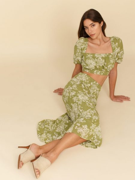 Reformation Veil Two Piece in Caprice $278