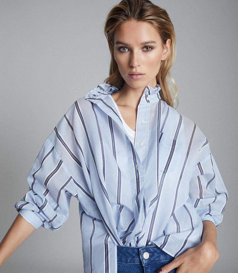 Reiss Avera Cotton Silk Blend Shirt $275