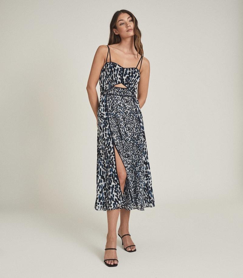 Reiss Nerissa Printed Midi Dress $370