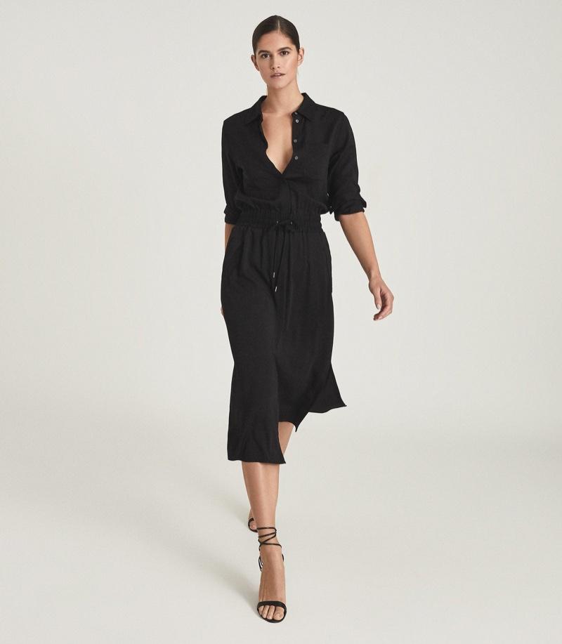 Reiss Rosie Midi-Length Shirt Dress $370