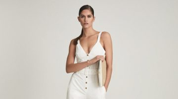 Reiss Sola Button Through Jumpsuit in White $370