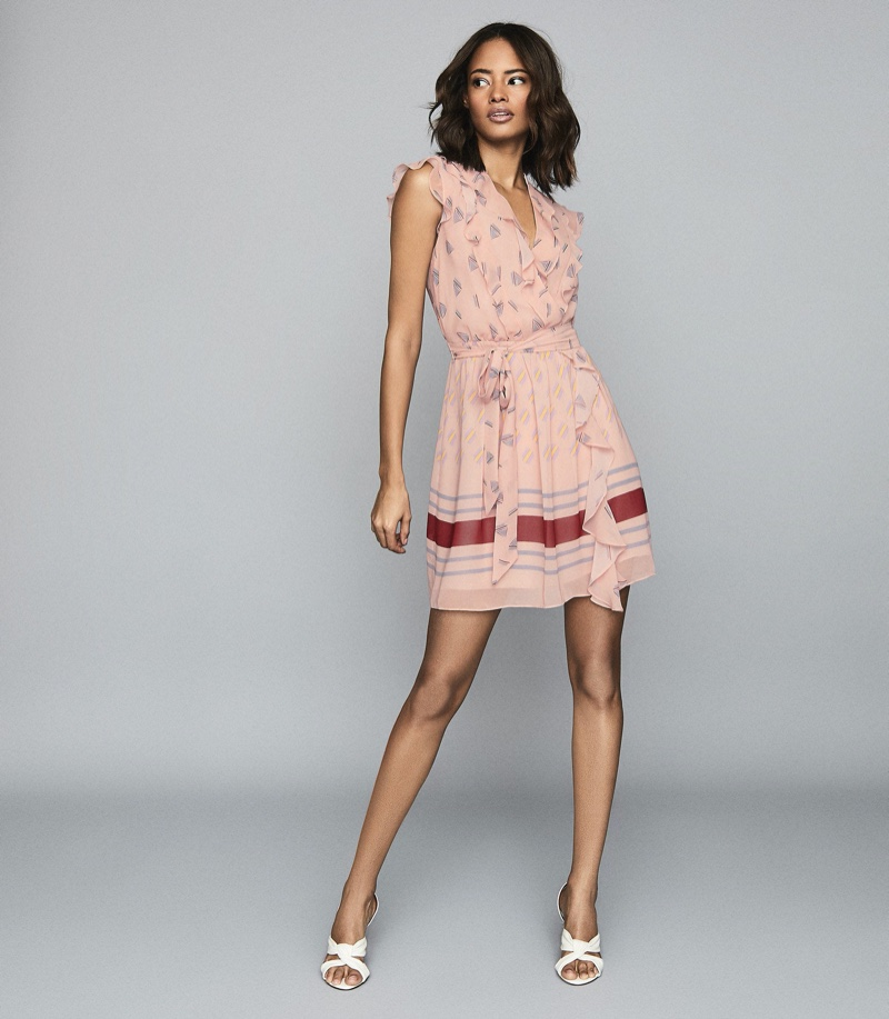 Reiss Stephanie Printed Mini Dress $330