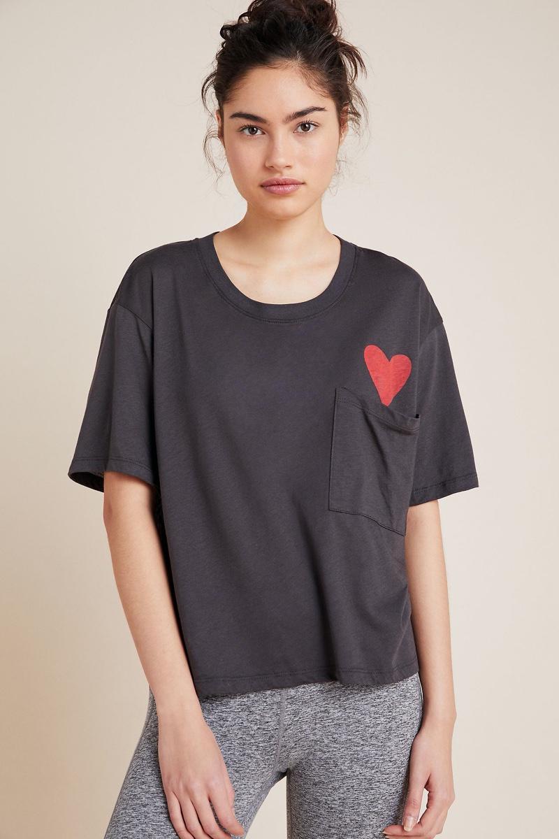 Sundry Heart Pocket Tee $88