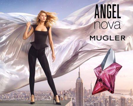Mugler unveils Angel Nova perfume campaign with Toni Garrn.