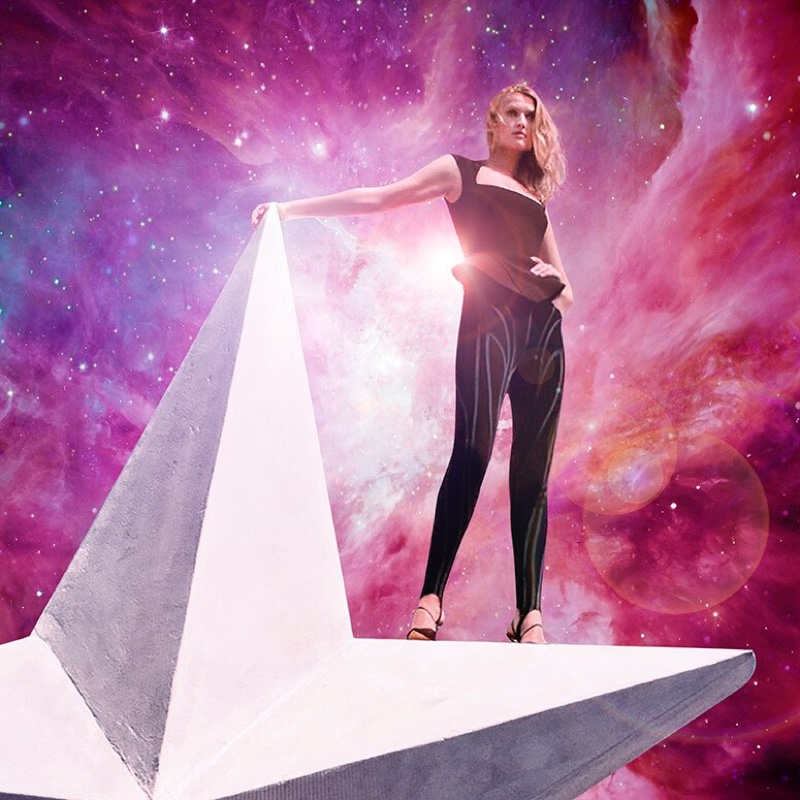 Toni Garrn poses for Mugler Angel Nova fragrance.