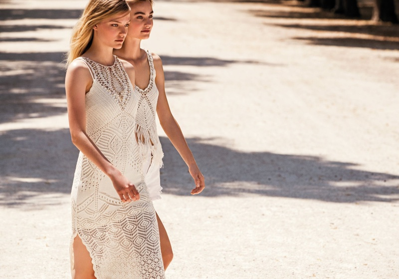 Roos Abels and Maartje Verhoef appear in Twinset spring-summer 2020 campaign.