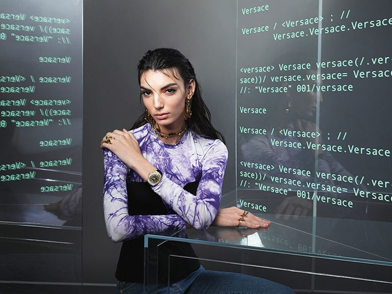 Cynthia Arrebola stars in Versace Watches spring-summer 2020 campaign.
