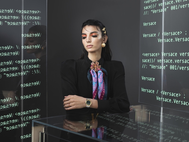 Versace unveils its spring-summer 2020 Watches campaign.