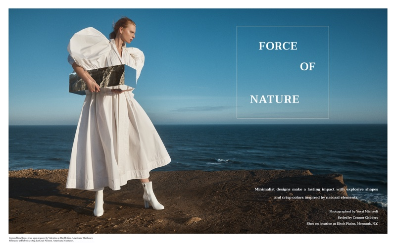 Viktoria Jakab Poses in Romantic Looks for Hamptons Magazine