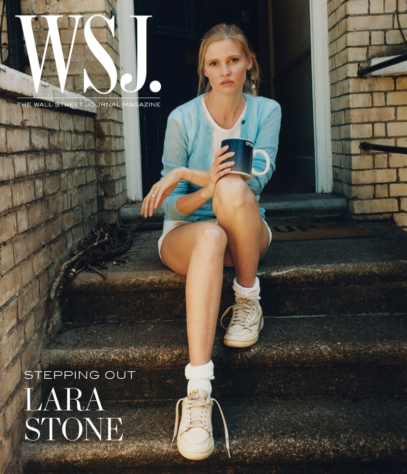 Lara Stone on WSJ. Magazine July 2020 digital cover. Photo: Dan Martensen for WSJ. Magazine