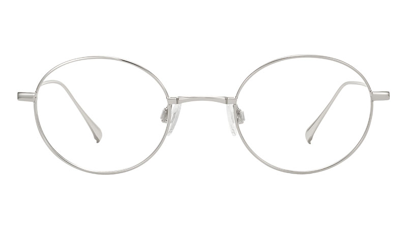 Warby Parker Hammett Glasses in Polished Silver $145