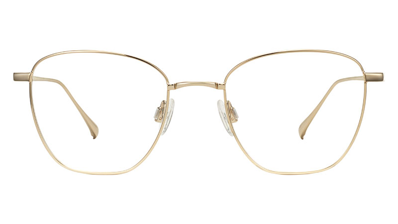 Warby Parker Rooney Glasses in Polished Gold $145