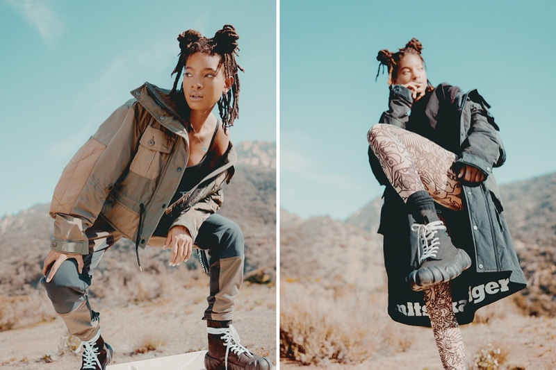 Onitsuka Tiger taps Willow Smith for fall-winter 2020 campaign.