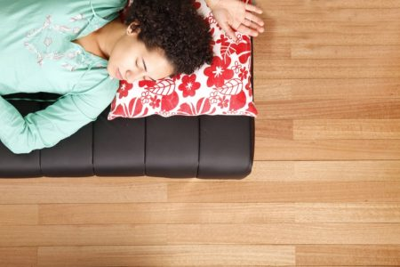 Woman Sleeping Nap Nook Pillow