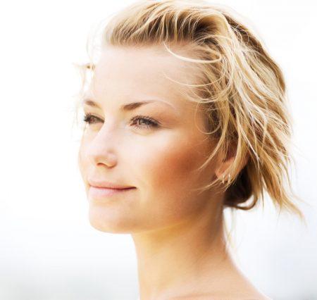 Woman Smiling Clear Skin Beauty