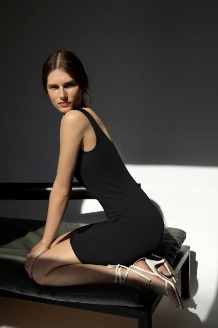Giedre Dukauskaite models Zara Limitless Contour Collection Jumpsuit 08.