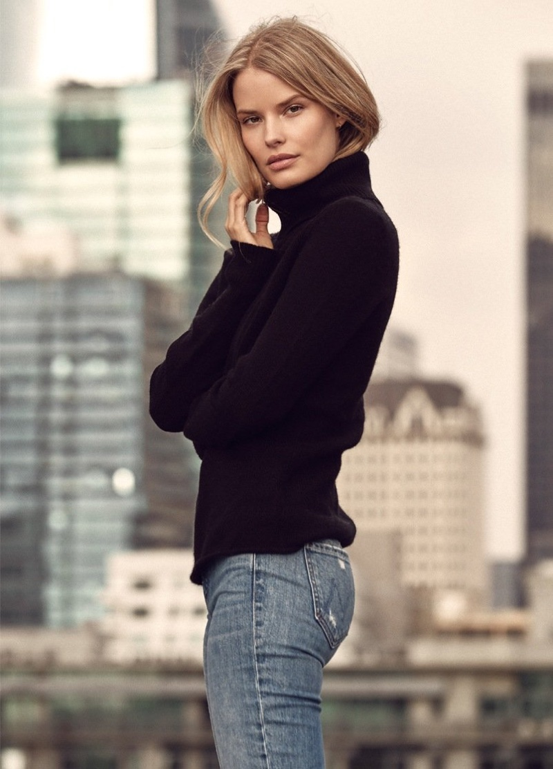 360 Cashmere focuses on turtlenecks for fall 2020 campaign.