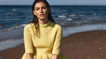 Alberte Mortensen Models Beach-Ready Looks for ELLE Denmark