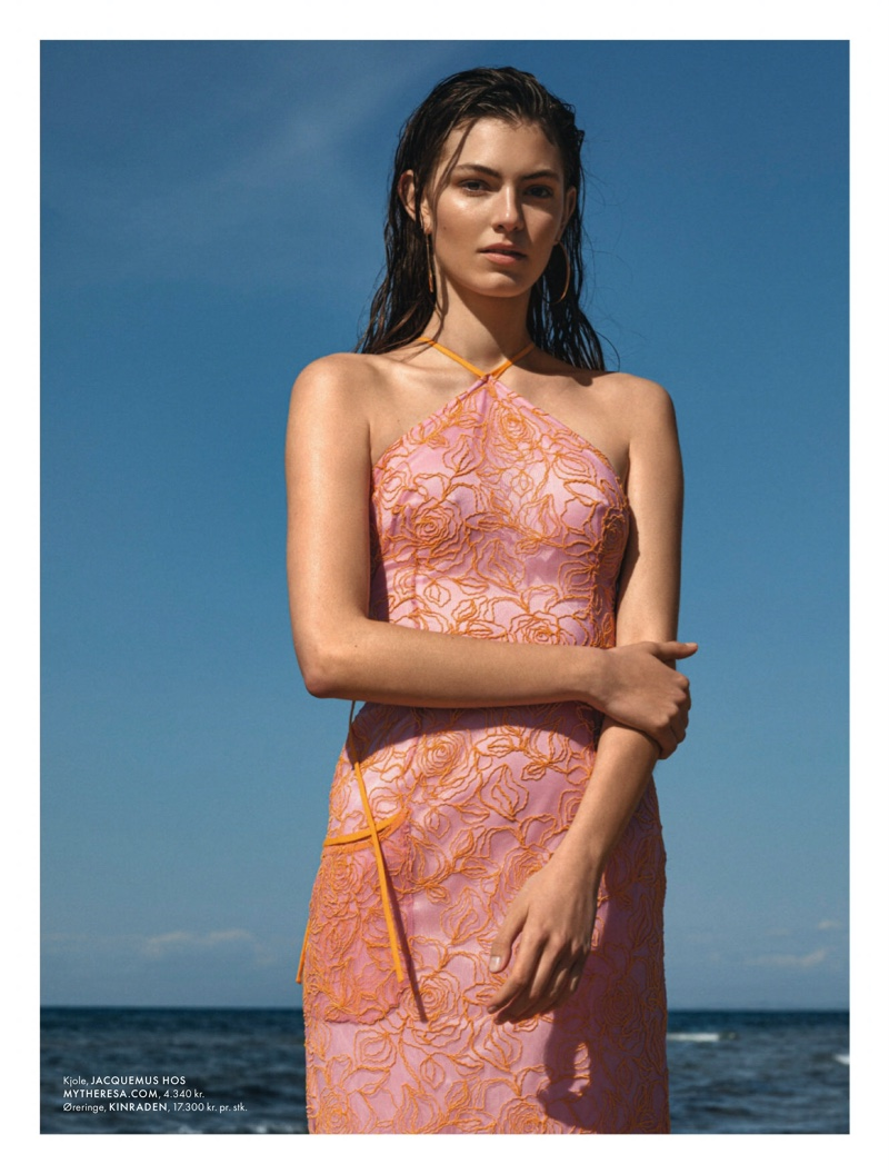 Alberte Mortensen Models Beach-Ready Looks for ELLE Denmark