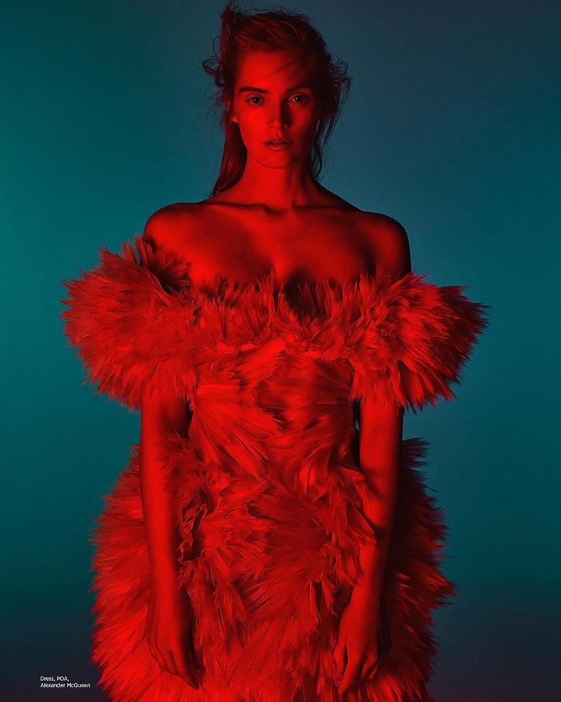 Alexina Graham Wears Fashion Forward Looks in Harper's Bazaar Arabia