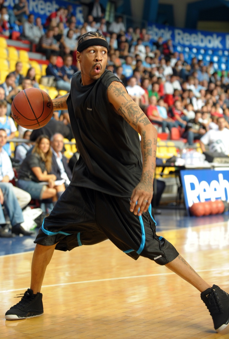 Allen Iverson Playing Basketball in Milan, Italy.