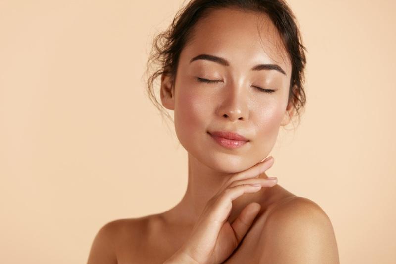 Asian Woman Clear Skin Beauty Makeup