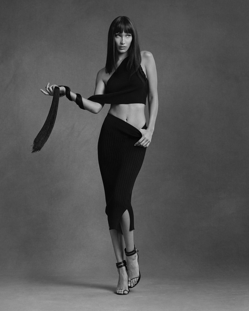 Helmut Lang taps Bella Hadid for 90's inspired pre-fall 2020 campaign.