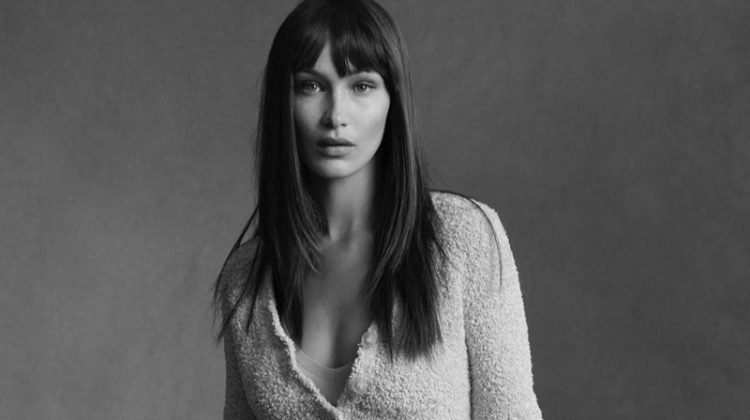 Model Bella Hadid is the face of Helmut Lang's pre-fall 2020 campaign.