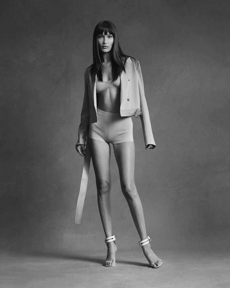 Helmut Lang once again works with Bella Hadid for pre-fall 2020 campaign.