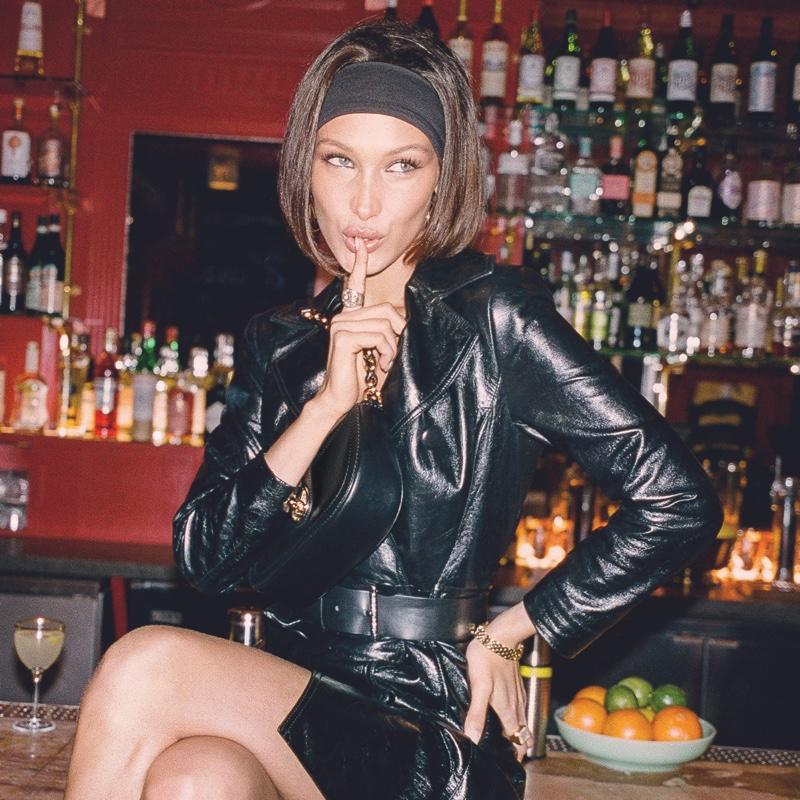 Clad in leather, Bella Hadid fronts MICHAEL Michael Kors Travel Diaries.