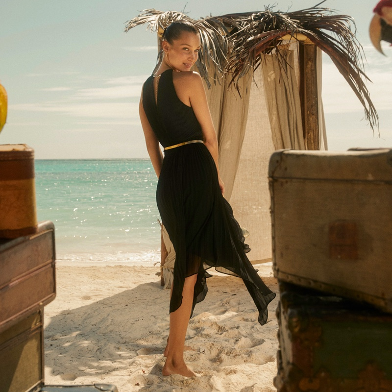 Bella Hadid poses for MICHAEL Michael Kors summer 2020 campaign.