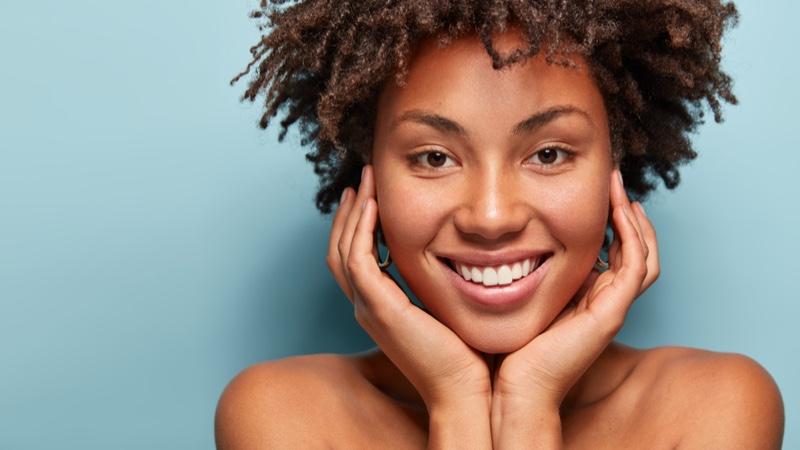 Black Model Afro Hair Beauty Skin