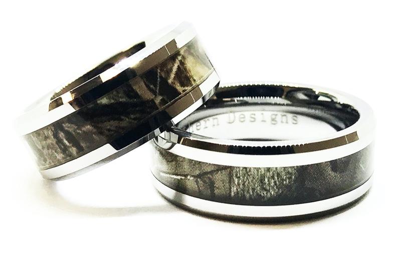 Camouflage Couple Ring Set