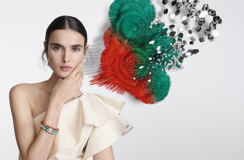 Blanca Padilla stars in Cartier [Sur]Naturel High Jewelry campaign.