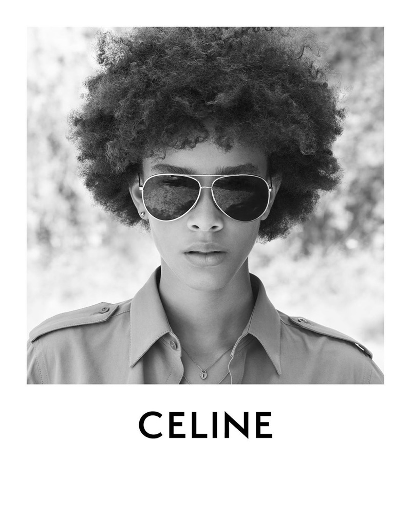 Celine features aviator sunglasses in Plein Soleil collection.