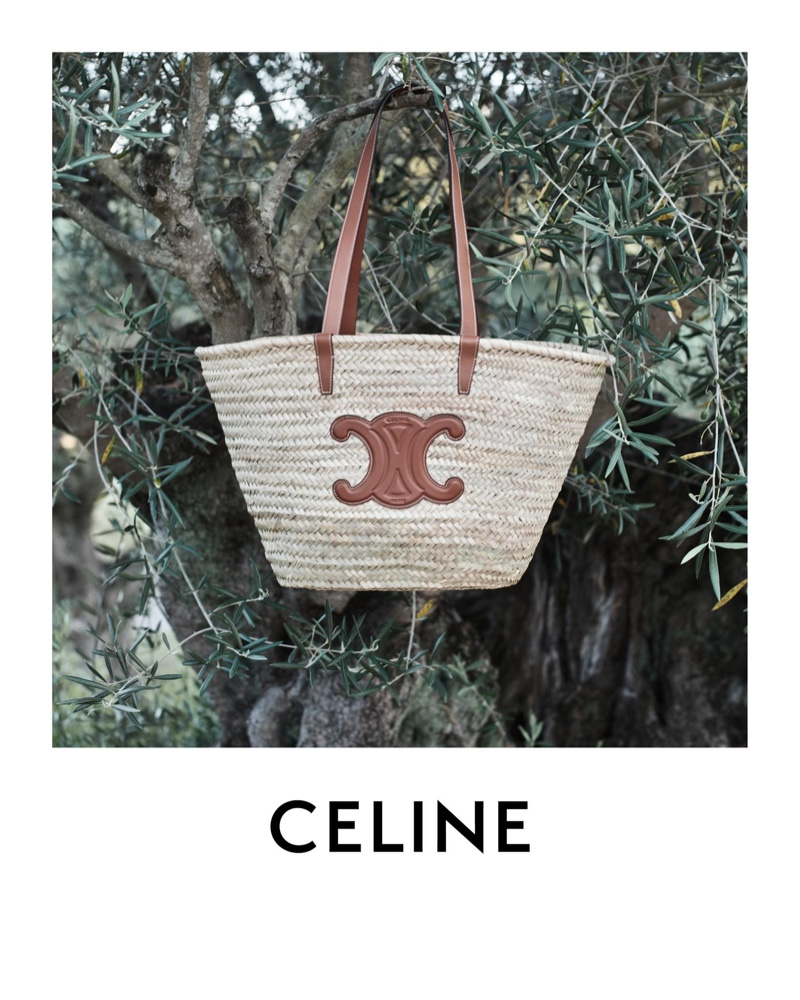 Celine highlights Classic Triomphe Panier bag.