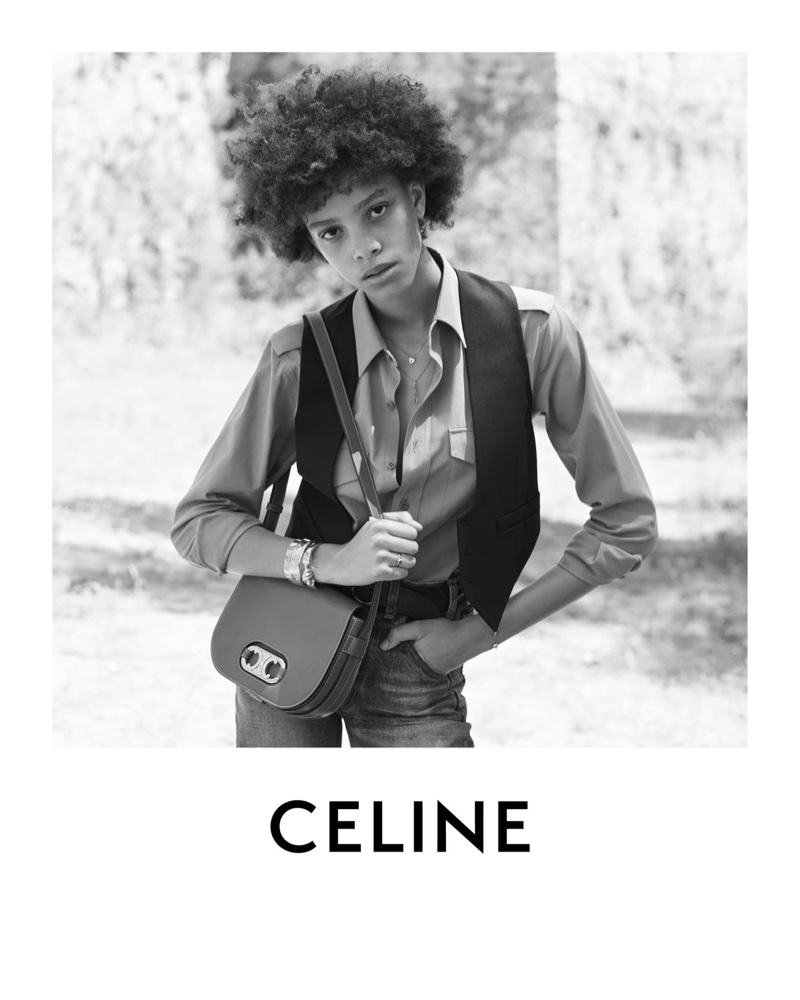 Essoye Mombot Poses for Celine 'Plein Soleil' Collection