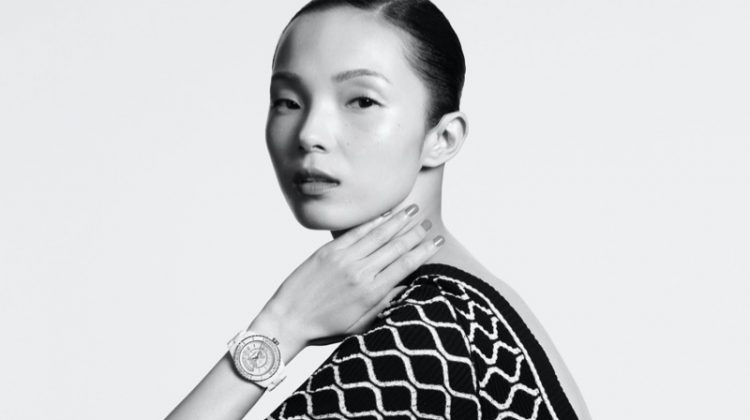 Xiao Wen Ju stars in Chanel J12 Watch summer 2020 campaign.