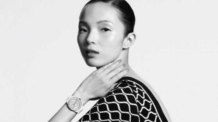 Xiao Wen Ju stars in Chanel J12 Watch summer 2020 campaign.