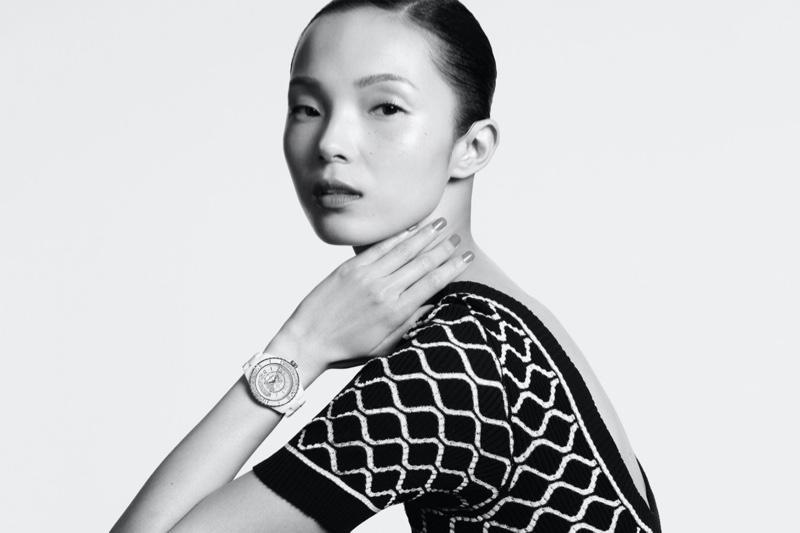 Xiao Wen Ju Looks Chic in Chanel J12·20 Watch Campaign