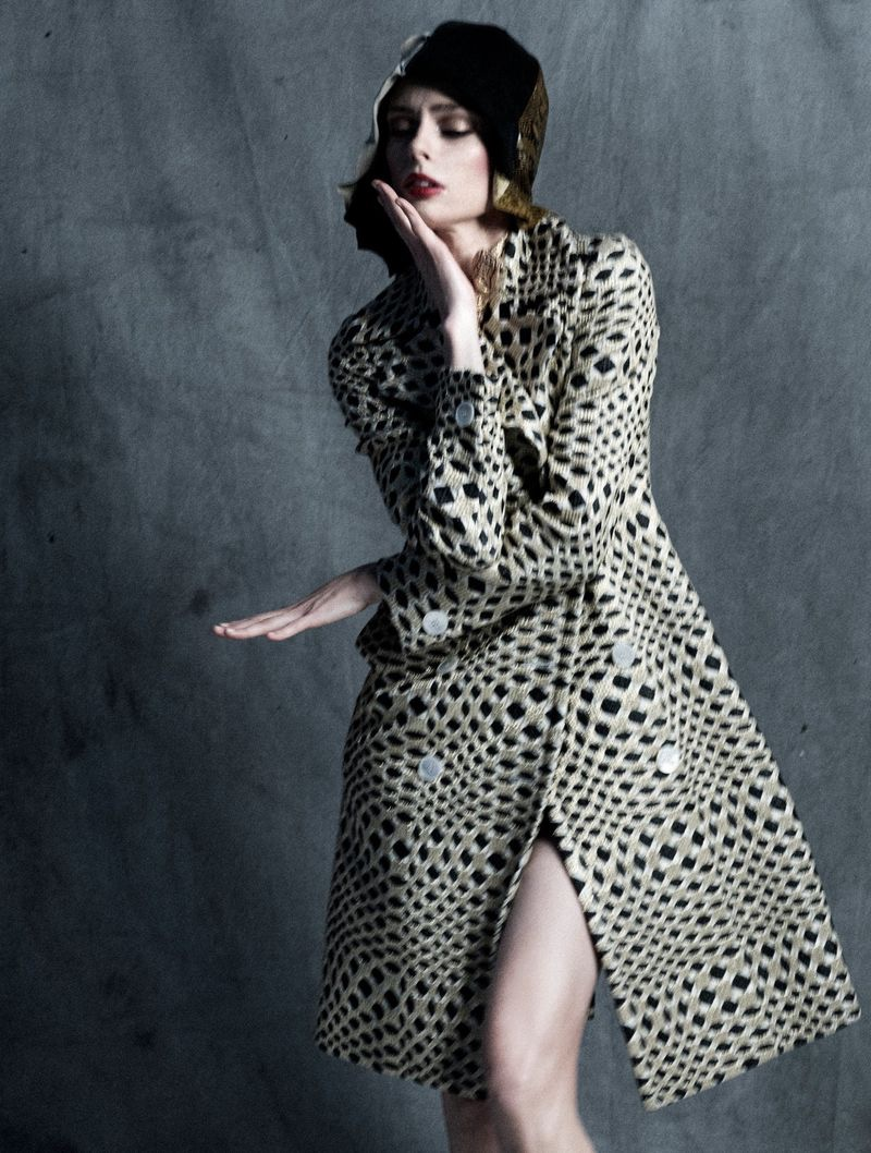 Coco Rocha Models Sophisticated Styles for L'Officiel Italy