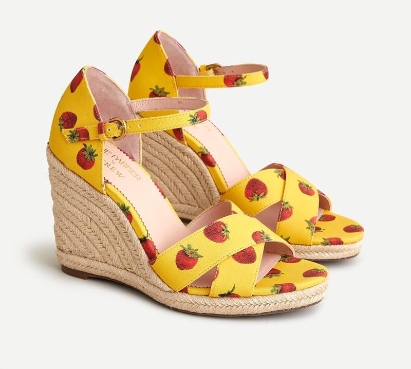 Edie Parker x J. Crew Jute Wedge Sandals $158