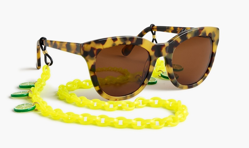 Edie Parker x J. Crew Sunglasses Chain with Lime Slices $45