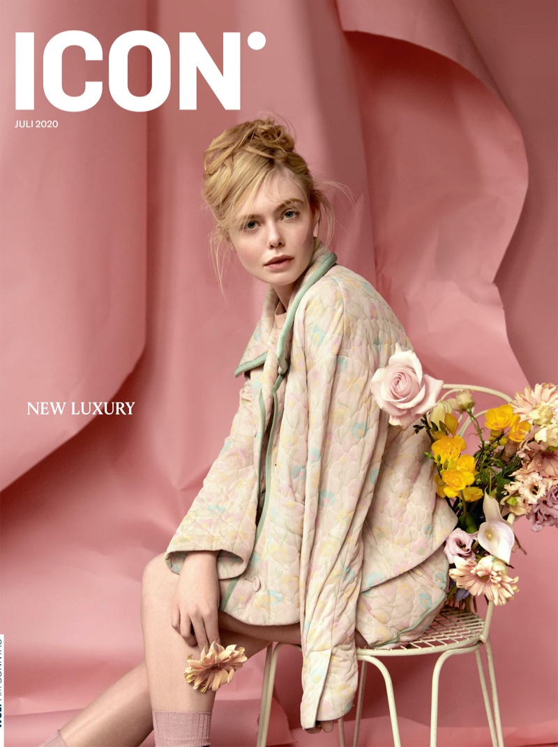 Elle Fanning on ICON July 2020 Cover. Photo: Andreas Ortner