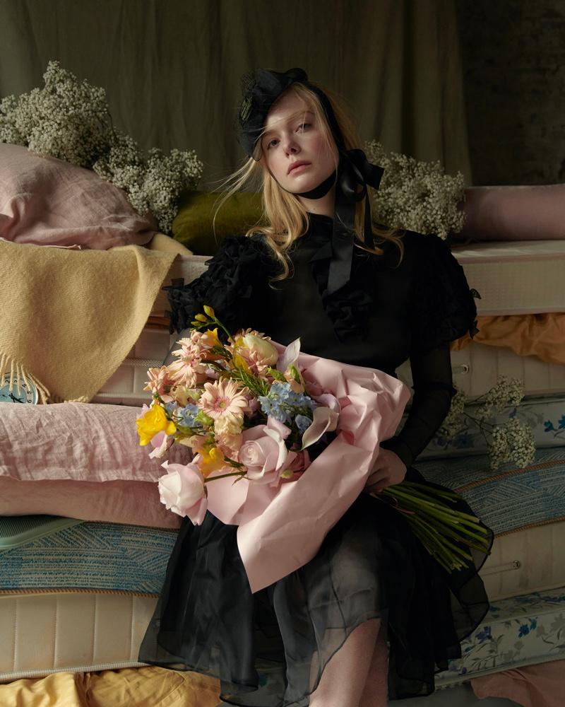 Elle Fanning Wears Fairytale Looks for ICON