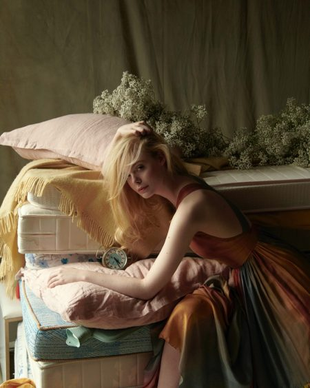Elle Fanning Wears Fairytale Looks for ICON