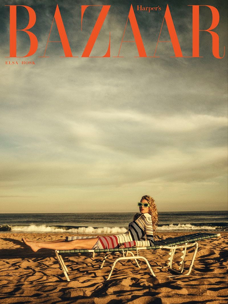 Elsa Hosk on Harper's Bazaar Greece August 2020 Cover