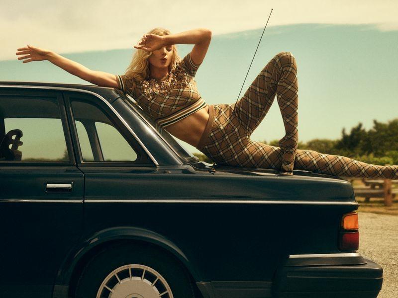 Elsa Hosk Embraces Summer Style for Harper's Bazaar Greece