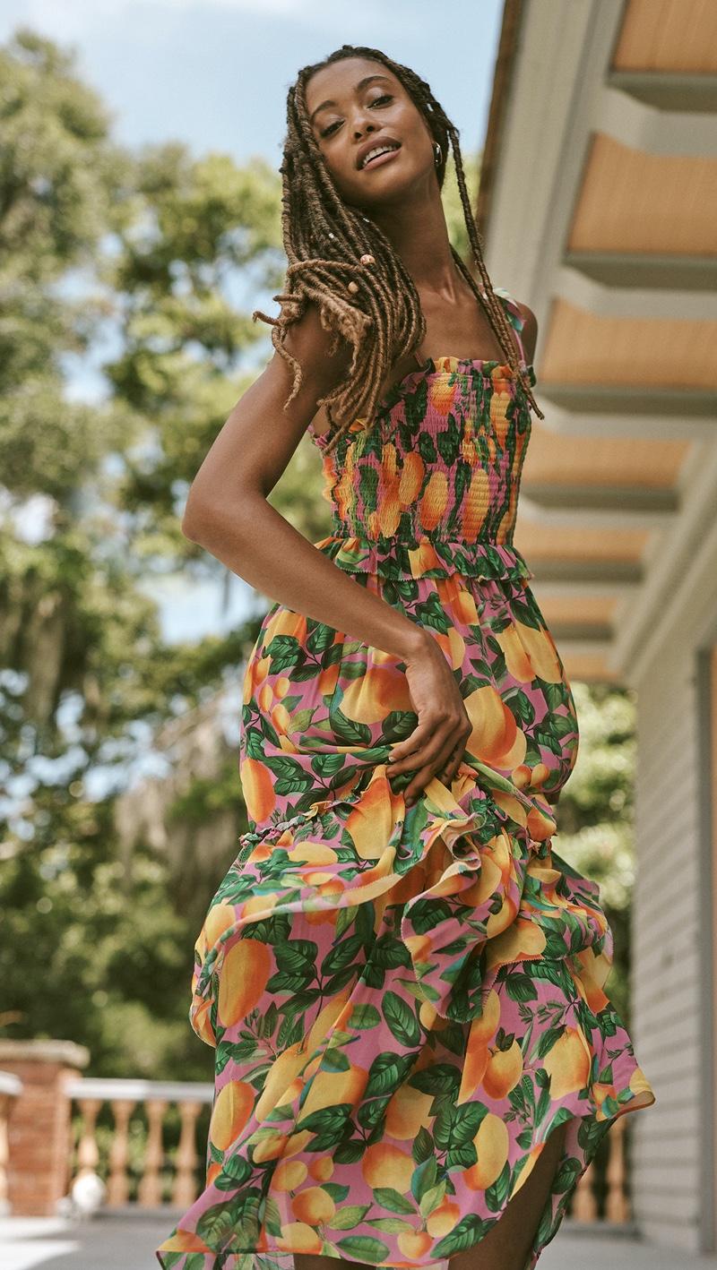 FARM Rio Orange Sunset Maxi Dress $250